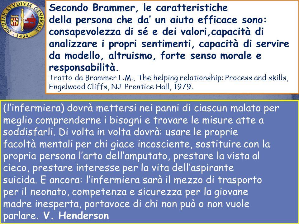 Secondo Brammer, le caratteristiche