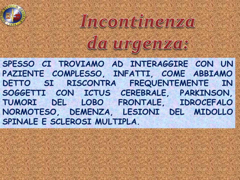 Incontinenza da urgenza: