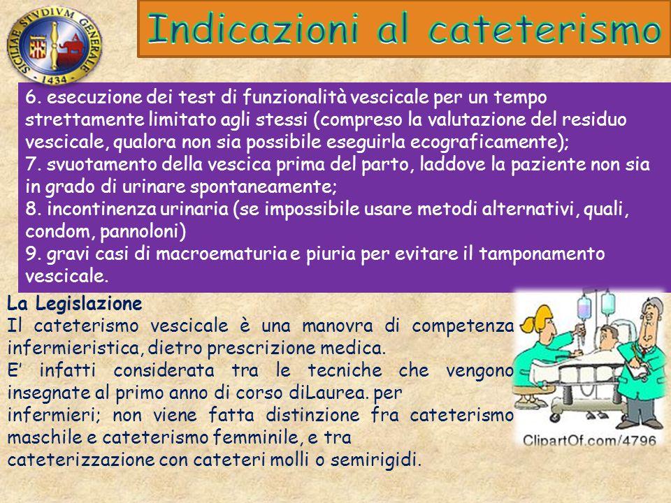 Indicazioni al cateterismo