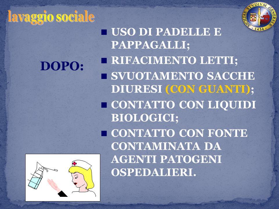 lavaggio sociale DOPO: