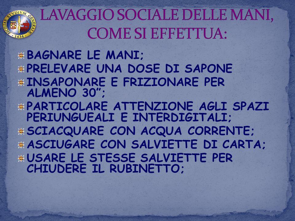 LAVAGGIO SOCIALE DELLE MANI, COME SI EFFETTUA:
