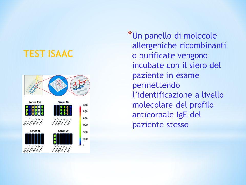 Un panello di molecole allergeniche ricombinanti o purificate vengono incubate con il siero del paziente in esame permettendo l'identificazione a livello molecolare del profilo anticorpale IgE del paziente stesso