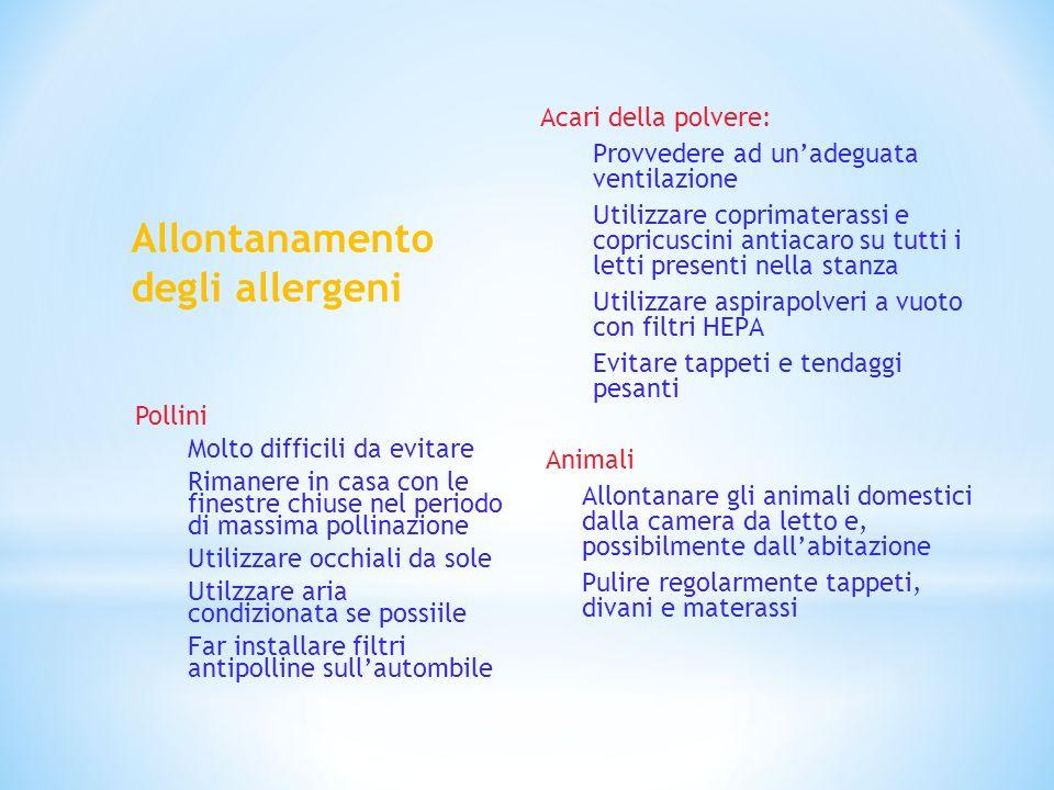 Allontanamento degli allergeni