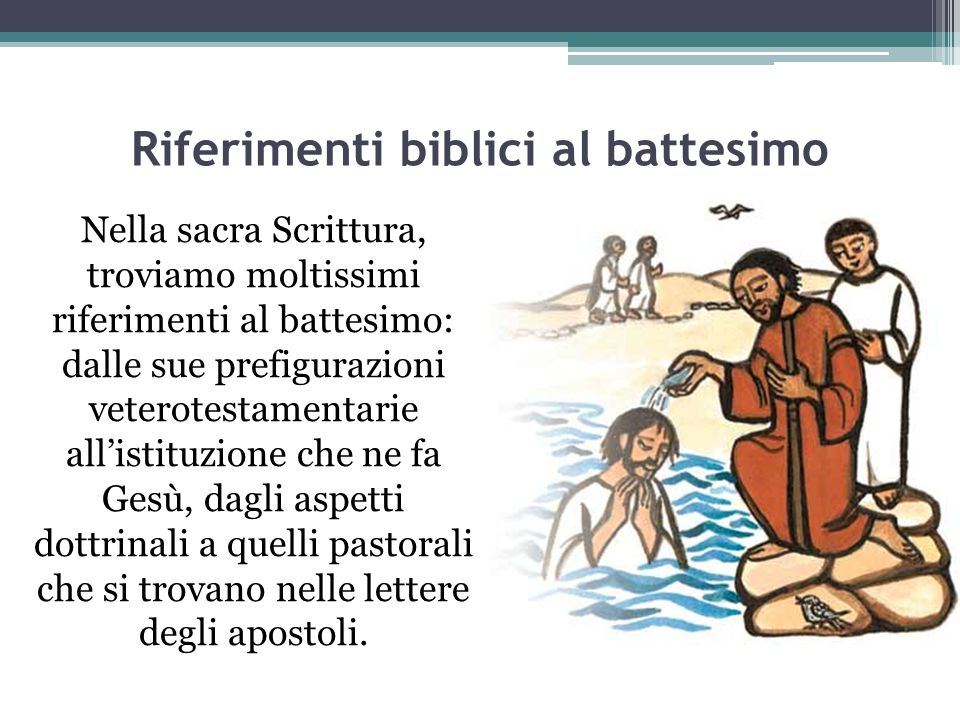 Riferimenti biblici al battesimo