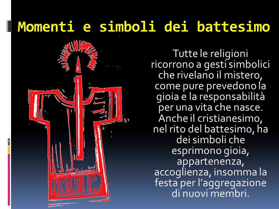 Momenti e simboli dei battesimo