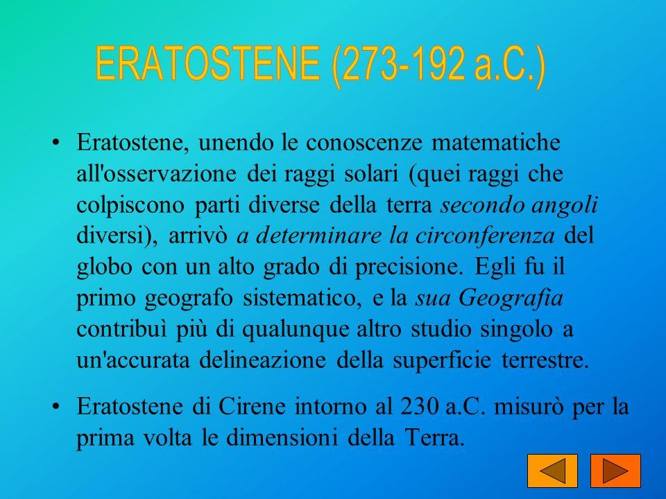 ERATOSTENE (273-192 a.C.)