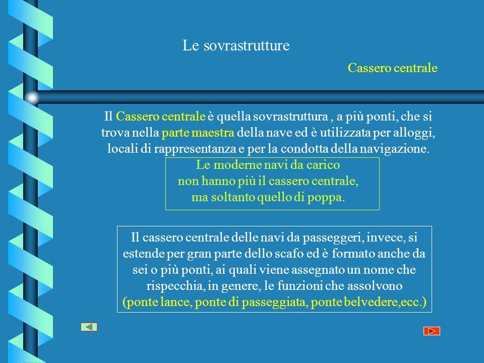 Le sovrastrutture Cassero centrale
