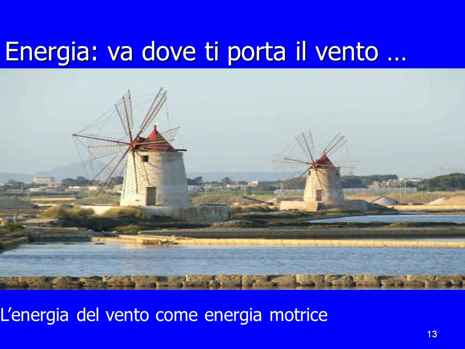 Energia: va dove ti porta il vento …