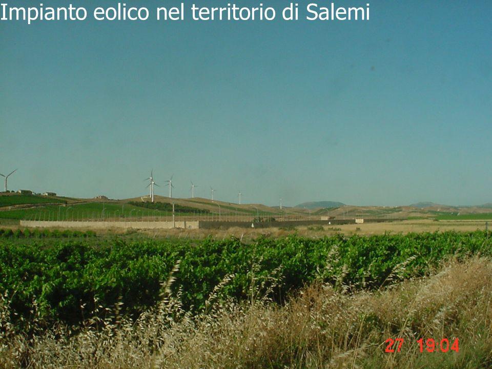 Impianto eolico nel territorio di Salemi