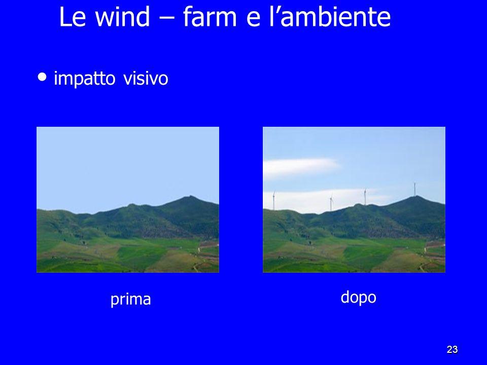 Le wind – farm e l'ambiente
