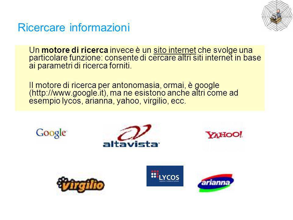 Ricercare informazioni