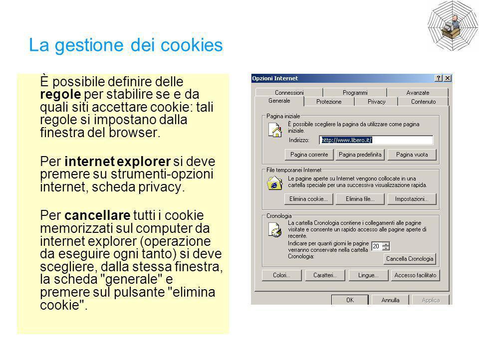 La gestione dei cookies