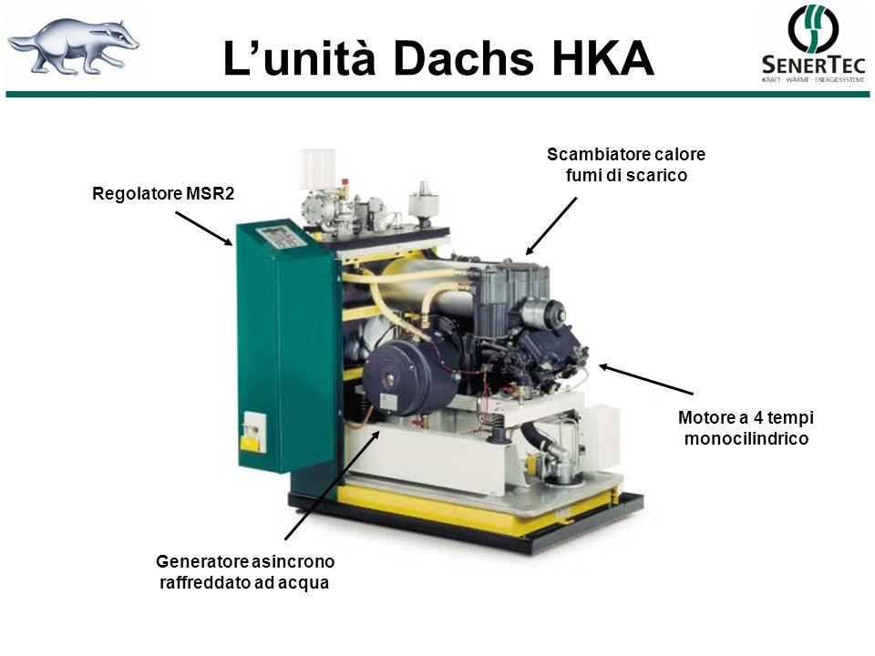 L'unità Dachs HKA Scambiatore calore fumi di scarico Regolatore MSR2