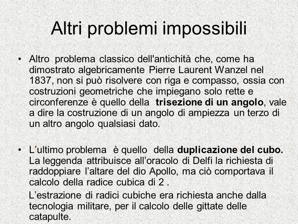Altri problemi impossibili