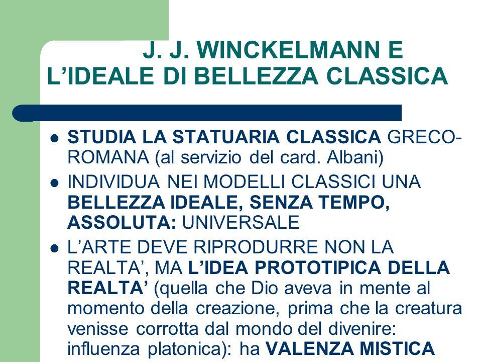 J. J. WINCKELMANN E L'IDEALE DI BELLEZZA CLASSICA