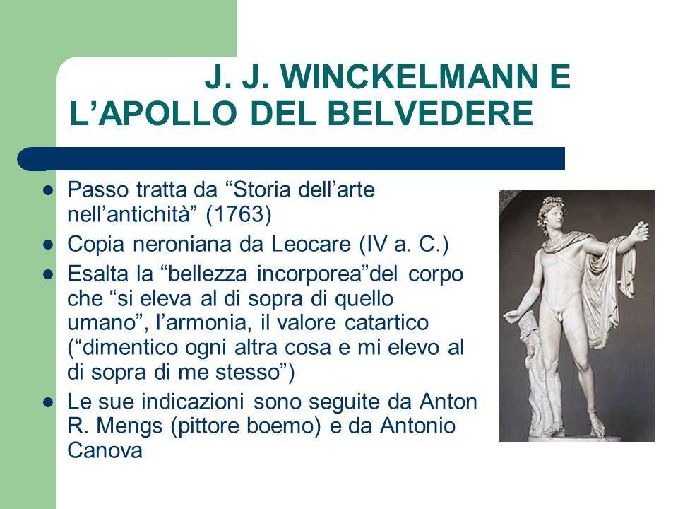 J. J. WINCKELMANN E L'APOLLO DEL BELVEDERE