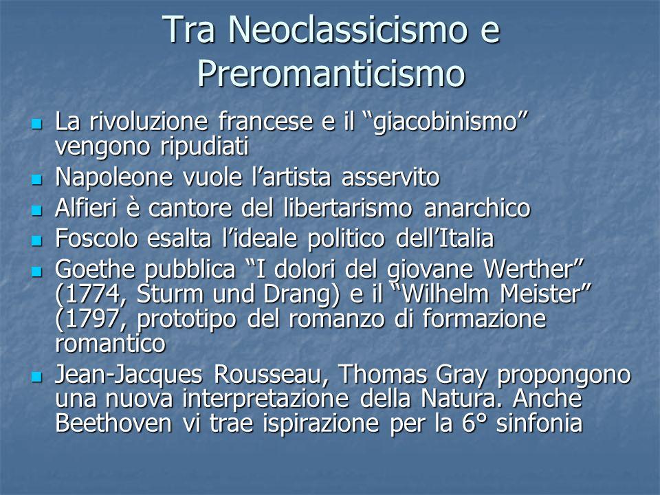 Tra Neoclassicismo e Preromanticismo