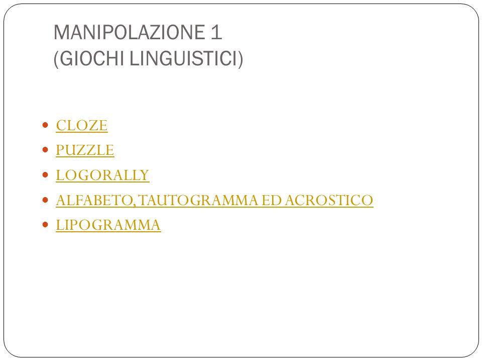 MANIPOLAZIONE 1 (GIOCHI LINGUISTICI)