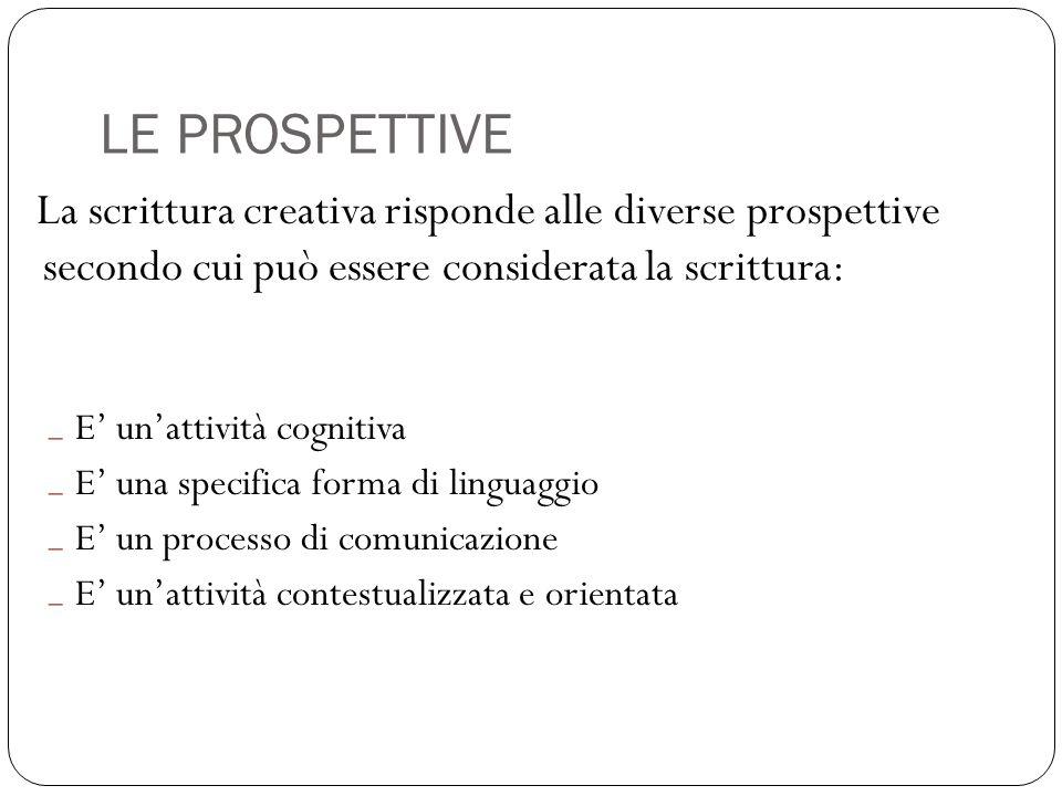 LE PROSPETTIVE E' un'attività cognitiva