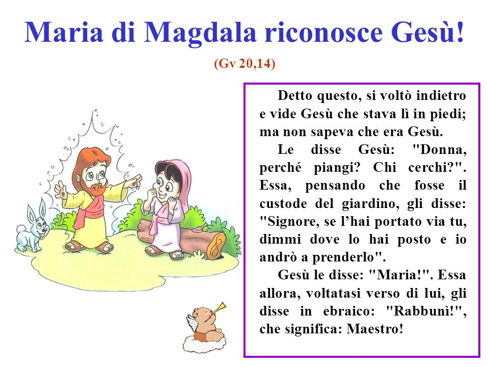Maria di Magdala riconosce Gesù!