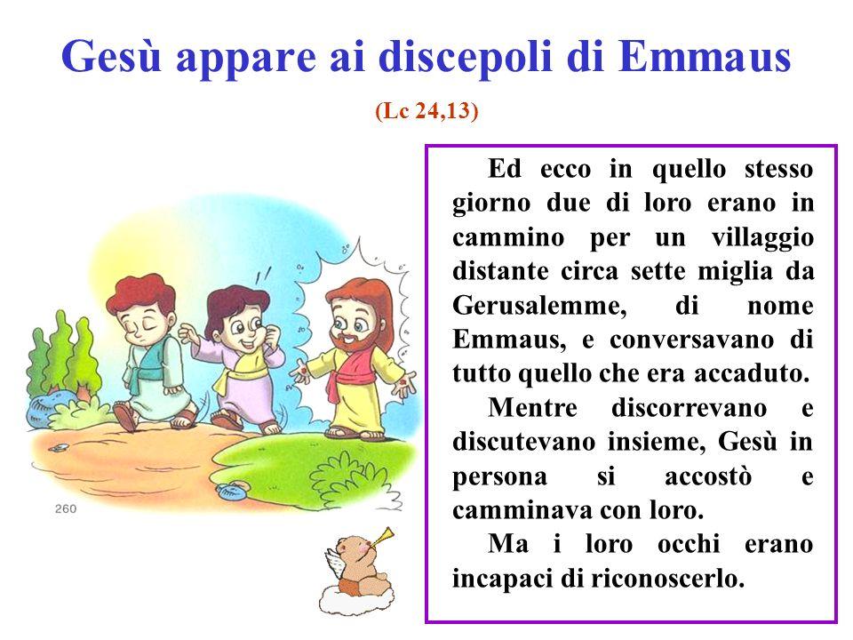 Gesù appare ai discepoli di Emmaus