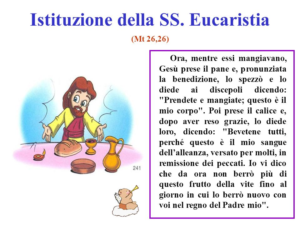 Istituzione della SS. Eucaristia