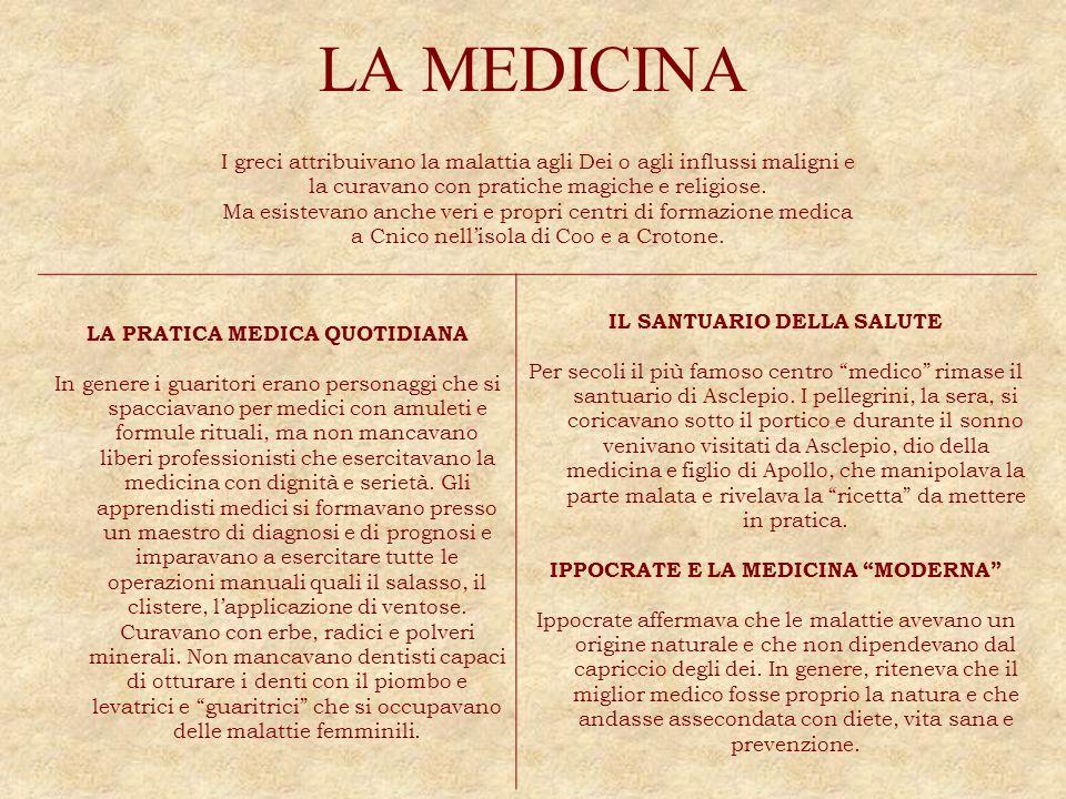 LA MEDICINA IL SANTUARIO DELLA SALUTE LA PRATICA MEDICA QUOTIDIANA