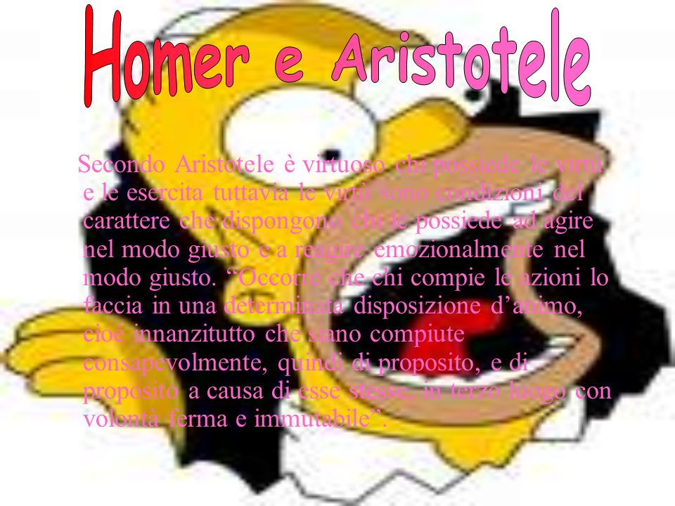 Homer e Aristotele