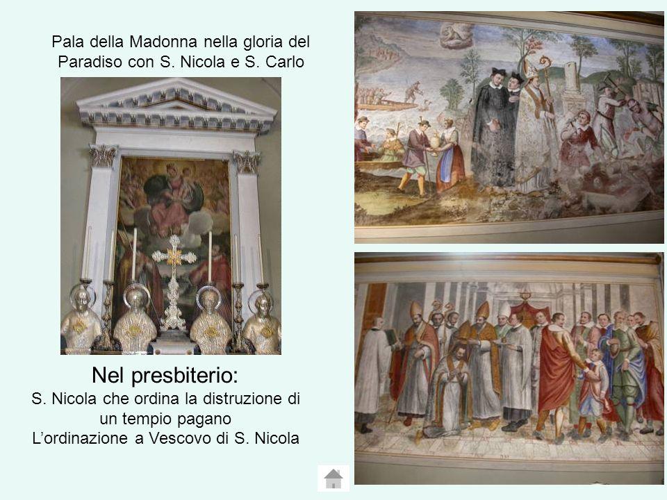 Pala della Madonna nella gloria del Paradiso con S. Nicola e S. Carlo