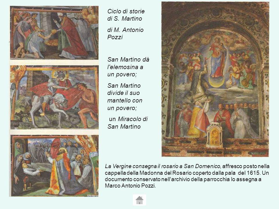 Ciclo di storie di S. Martino di M. Antonio Pozzi