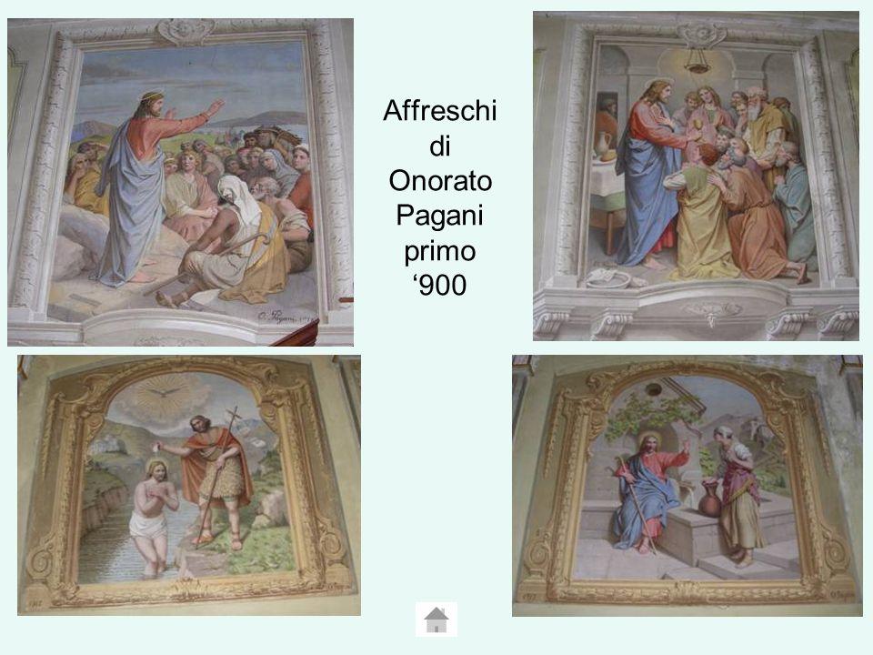Affreschi di Onorato Pagani primo '900