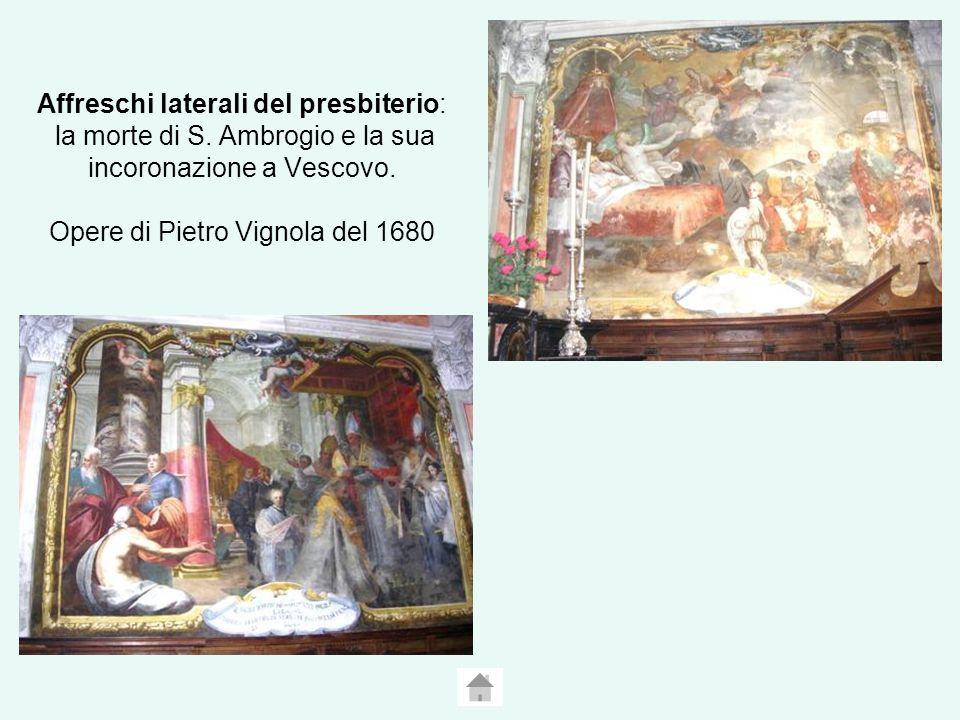Affreschi laterali del presbiterio: la morte di S