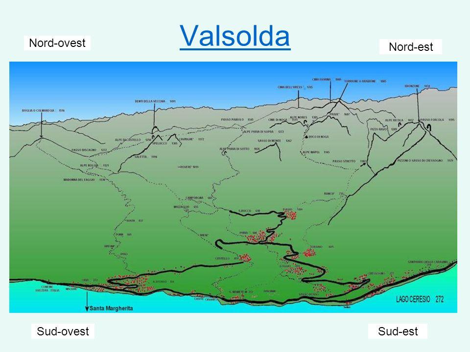 Valsolda Nord-ovest Nord-est Sud-ovest Sud-est