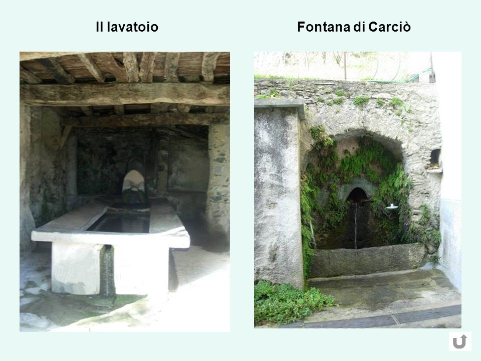 Il lavatoio Fontana di Carciò