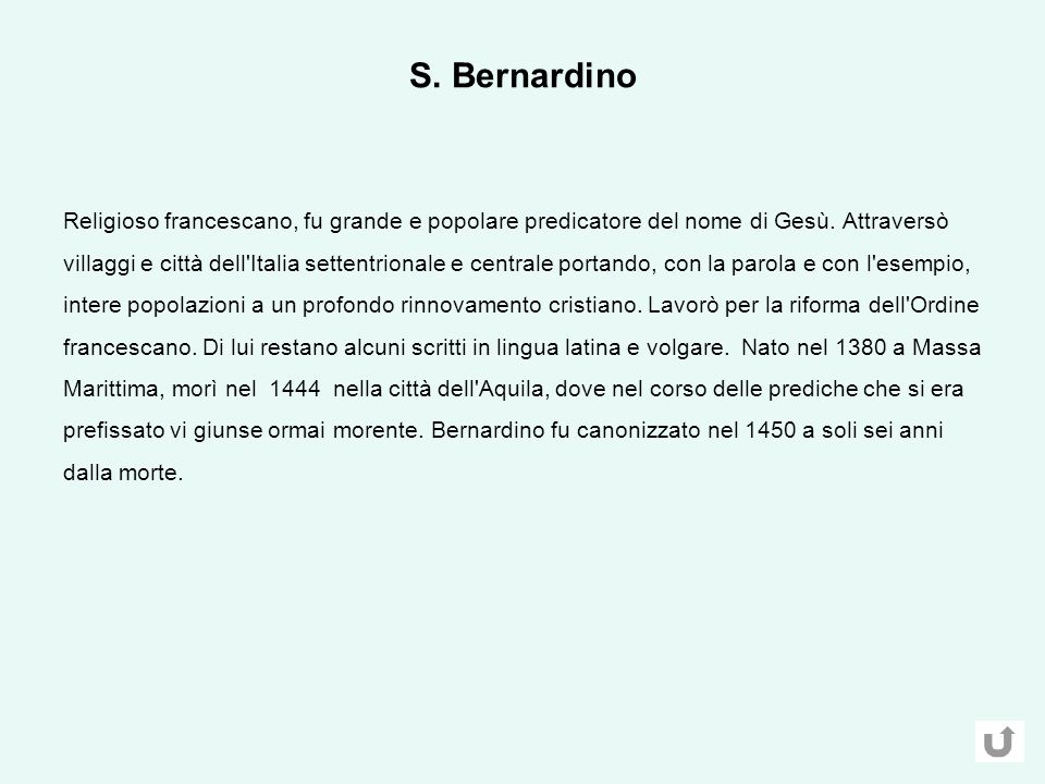 S. Bernardino