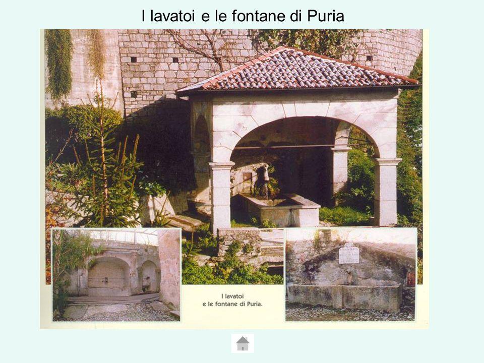 I lavatoi e le fontane di Puria