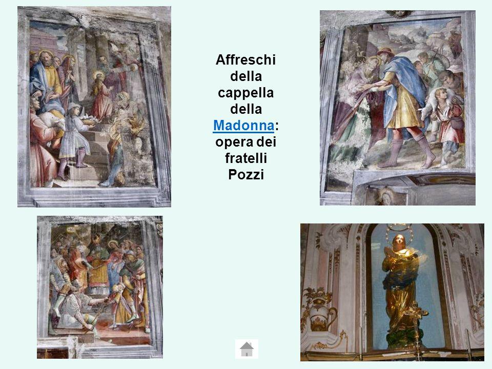 Affreschi della cappella della Madonna: opera dei fratelli Pozzi