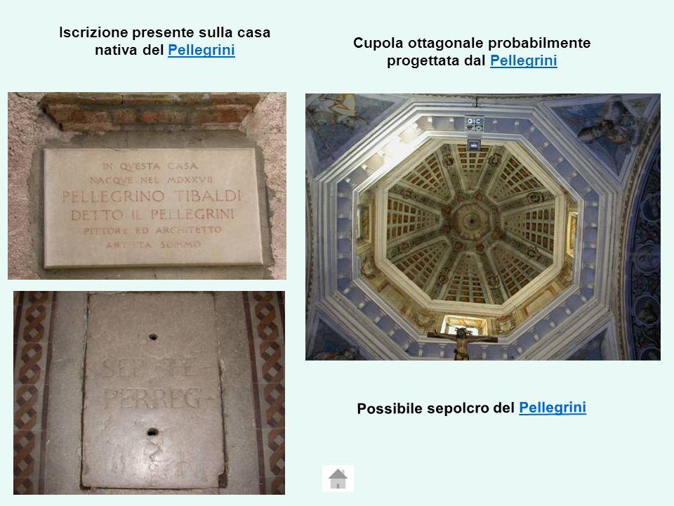 Iscrizione presente sulla casa nativa del Pellegrini