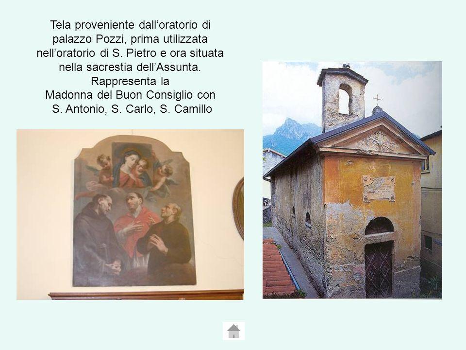 Tela proveniente dall'oratorio di palazzo Pozzi, prima utilizzata nell'oratorio di S.