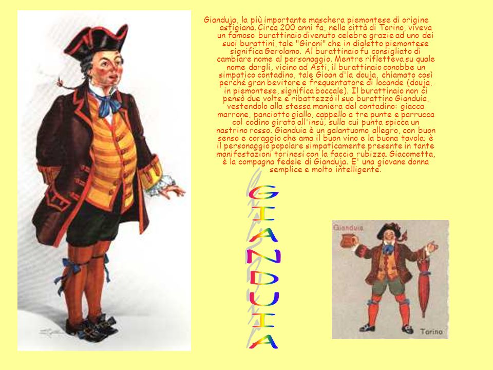 Gianduja, la più importante maschera piemontese di origine astigiana