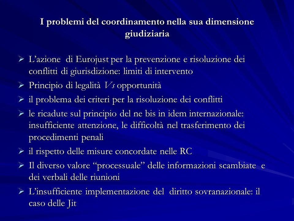 I problemi del coordinamento nella sua dimensione giudiziaria