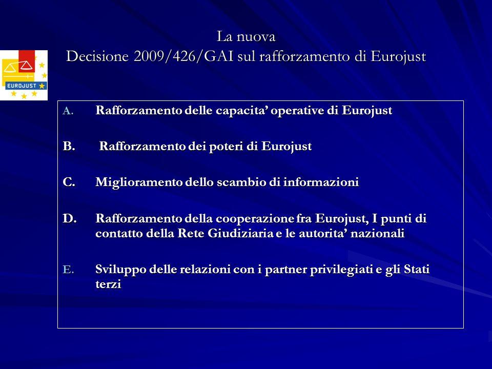 La nuova Decisione 2009/426/GAI sul rafforzamento di Eurojust