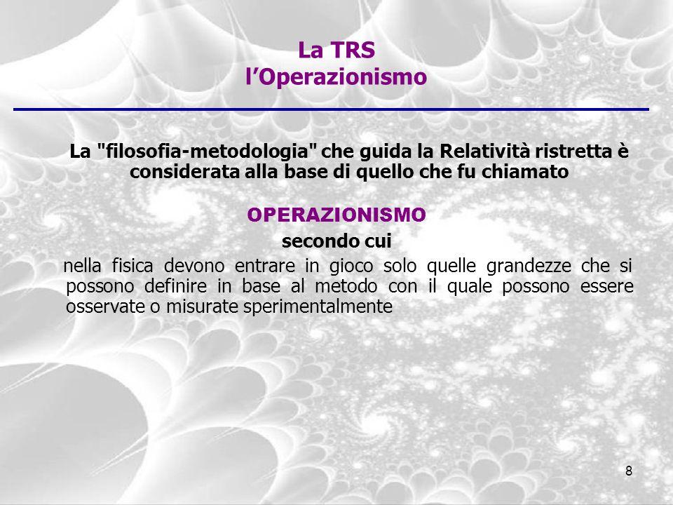 La TRS l'Operazionismo