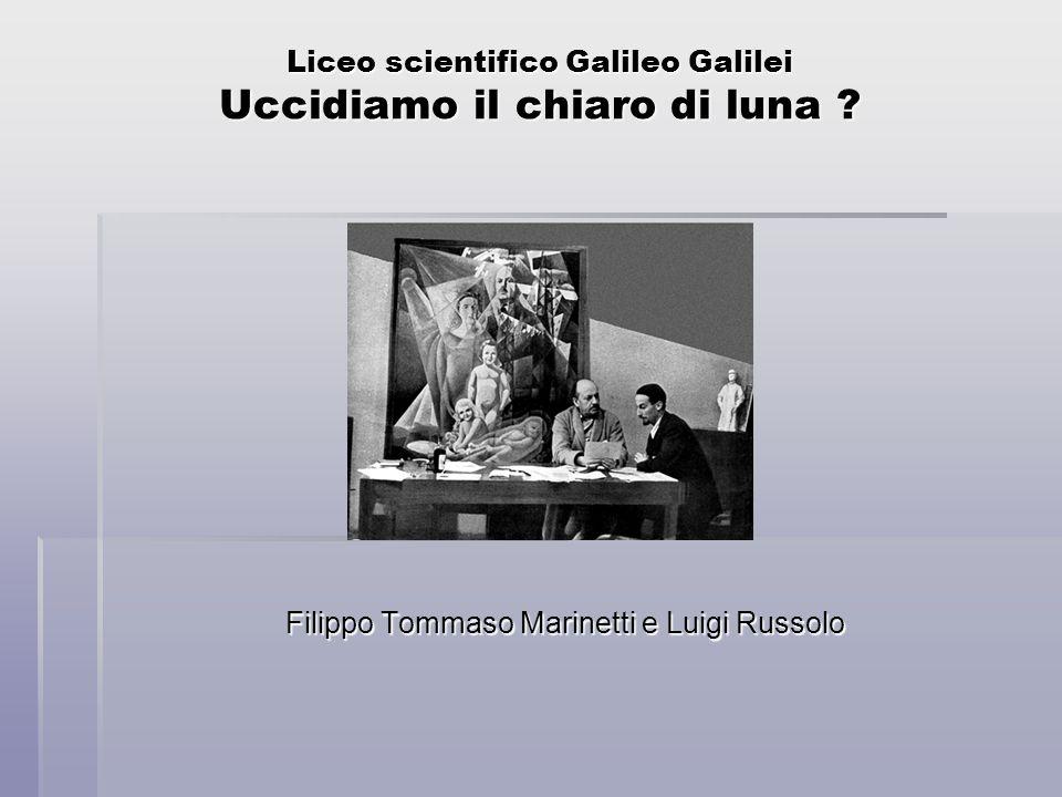 Liceo scientifico Galileo Galilei Uccidiamo il chiaro di luna