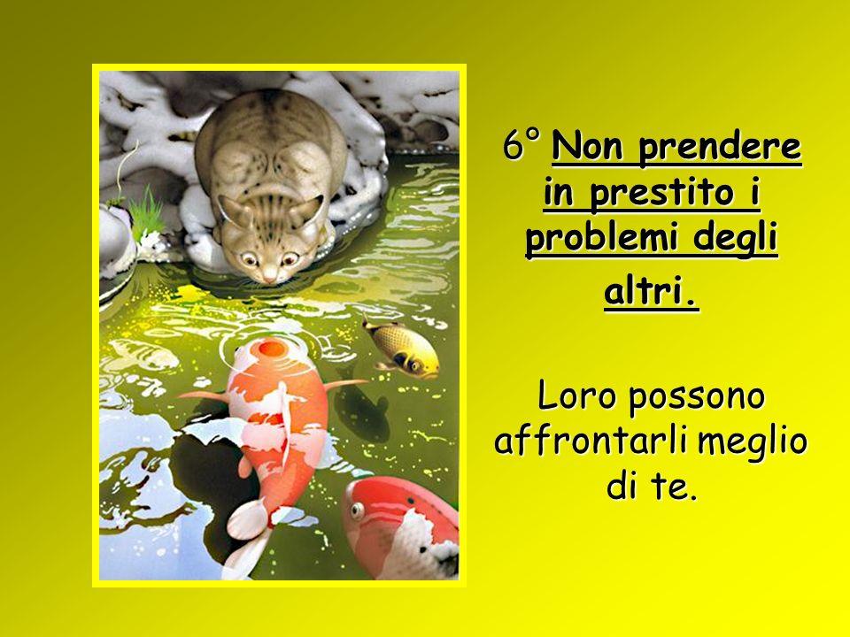 6° Non prendere in prestito i problemi degli altri