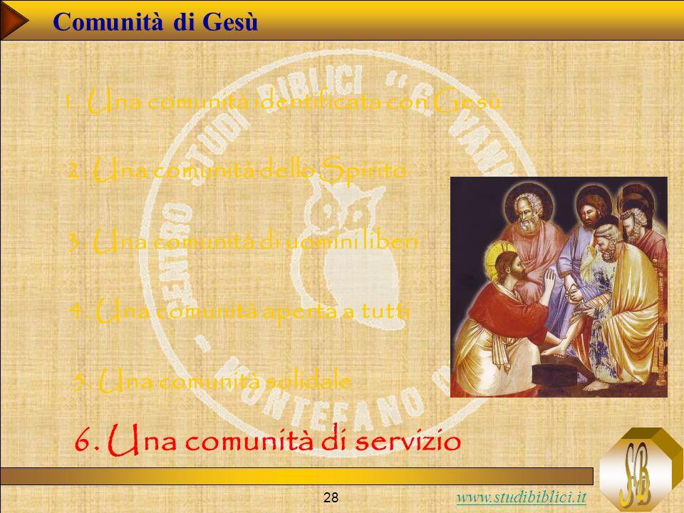 6. Una comunità di servizio