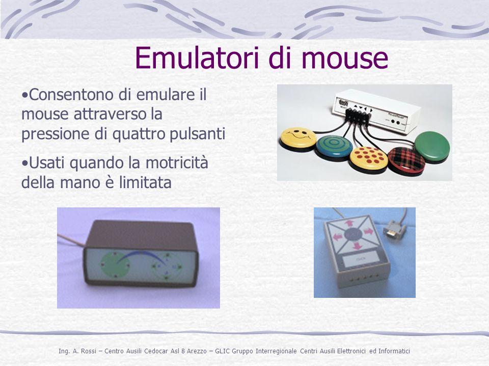 Emulatori di mouse Consentono di emulare il mouse attraverso la pressione di quattro pulsanti.