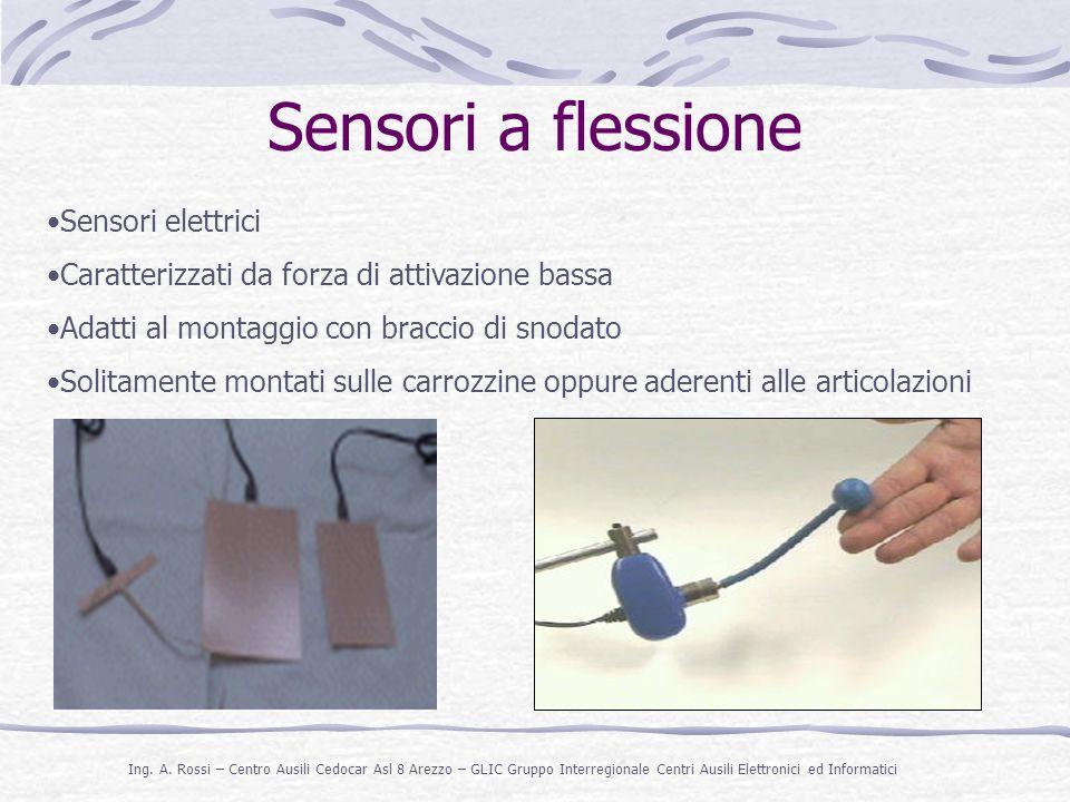 Sensori a flessione Sensori elettrici
