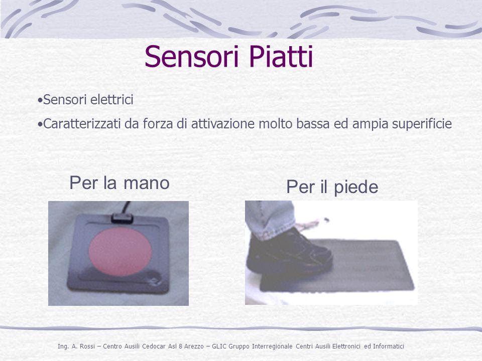 Sensori Piatti Per la mano Per il piede Sensori elettrici