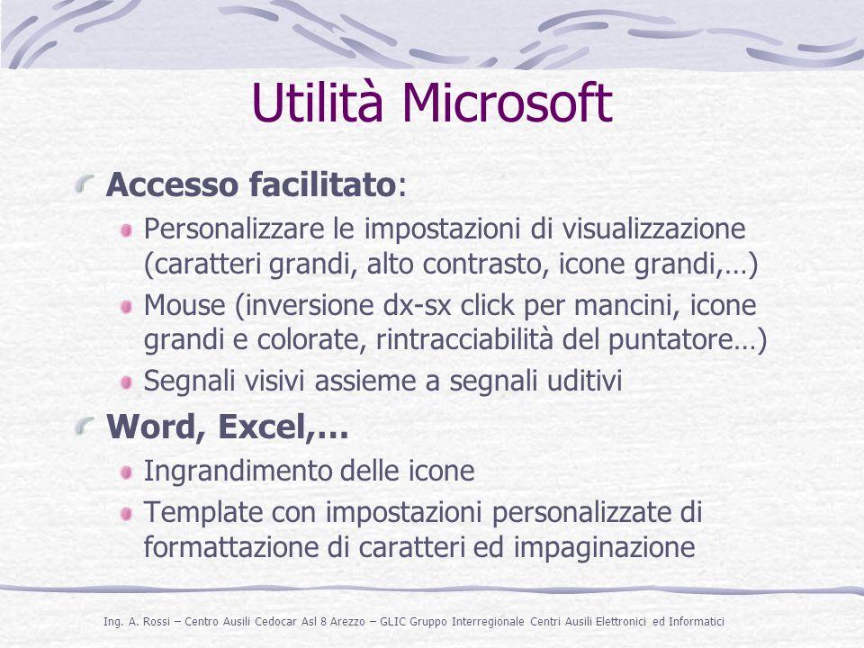 Utilità Microsoft Accesso facilitato: Word, Excel,…